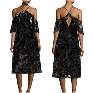 NWT ABS Allen Shwartz Floral Burn Out Dress